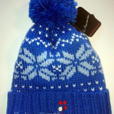 Bonnet Montagne Bleu/motif