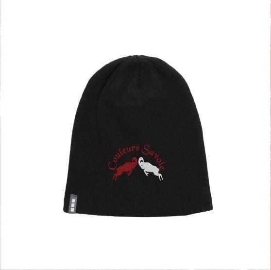 Bonnet noir cs red