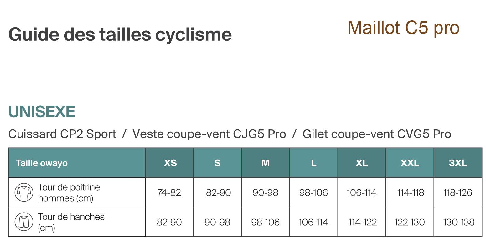 Guide des tailles cyclisme 2
