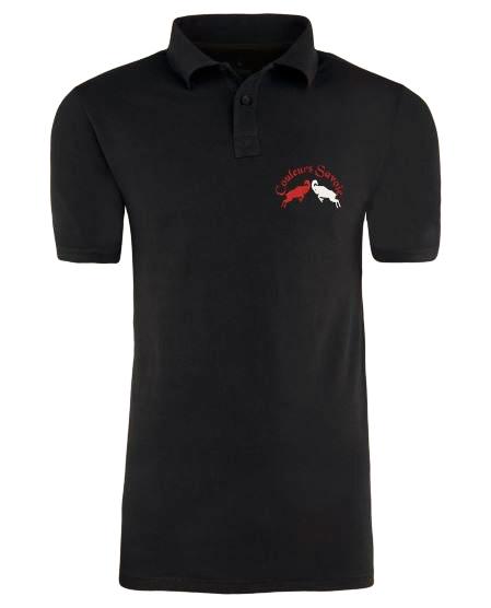 New polo noir couleurs savoie