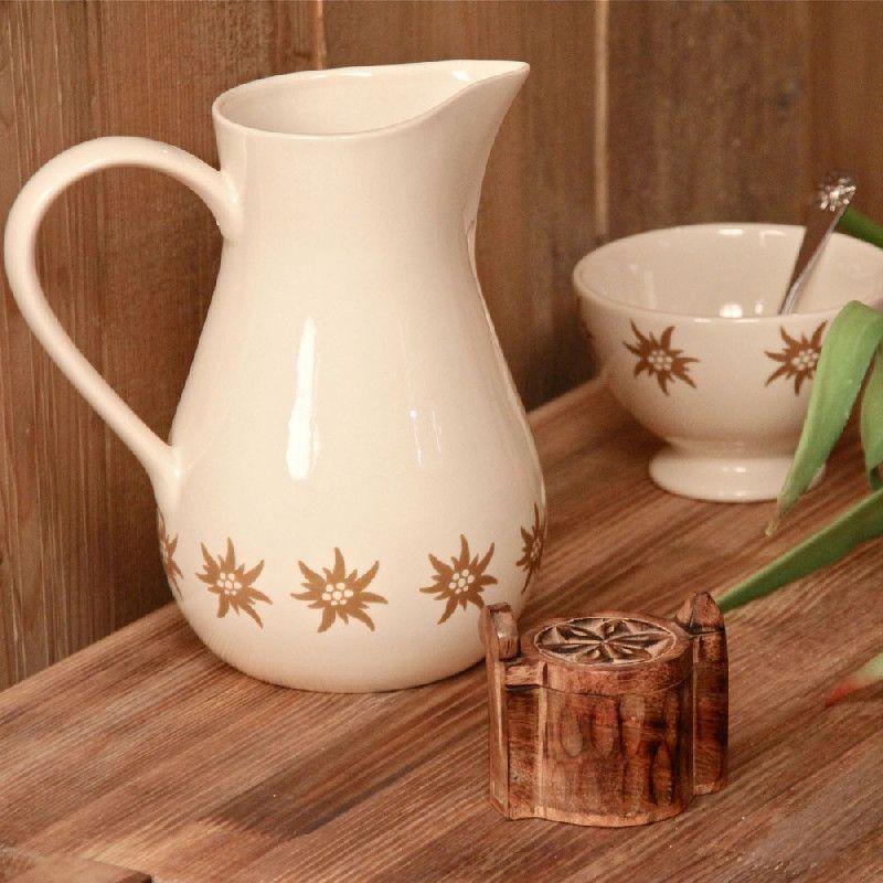 Pichet ceramique ecru edelweiss l44019