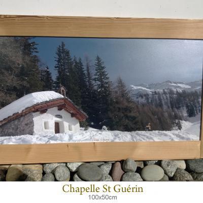 Tableau chapelle st guerin 100x50cm