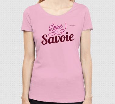 T-shirt FEMME bio     love Savoie