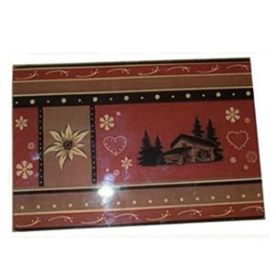 Vignette planche a decouper decor montagne chalet et edelweiss 20 x30 cm 7