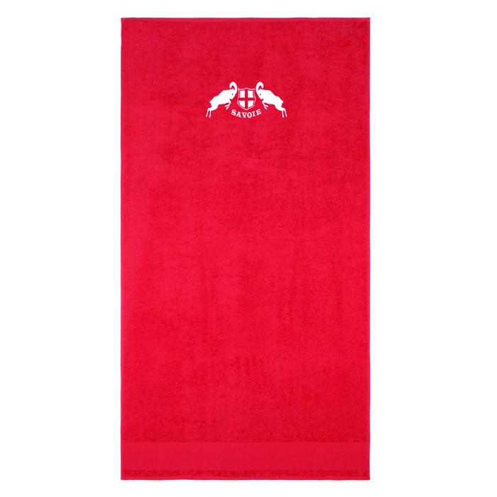 Vignette serviette bain rouge
