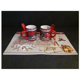 Vignette set table mug relief